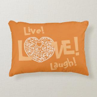 ORANGEY Live! Laugh! LOVE! Sweetie❤ Accent Pillow