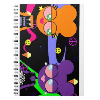 orangey & purple specialty *smacked* notebook