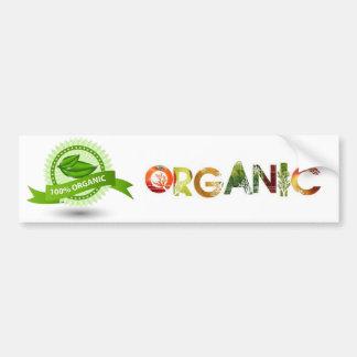 Orangic go green car bumper sticker