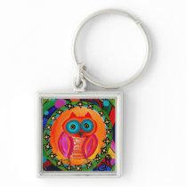 Orangie Owl Keychain