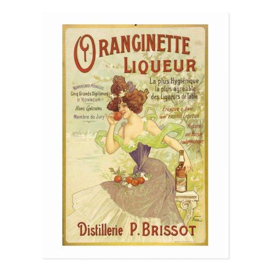Oranginette Liqueur Vintage Fine Art Postcard
