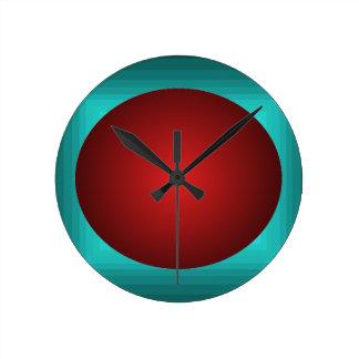 Orangish 3D Design Turquoise Ball Clock