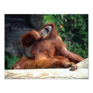 orangutan 4.25x5.5 paper invitation card