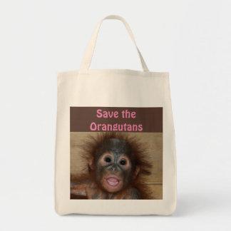 Orangutan Animal Babies Tote Bag