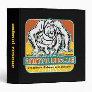 "Orangután animal del rescate carpeta 1 1/2"""