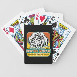 Orangután animal del rescate baraja cartas de poker