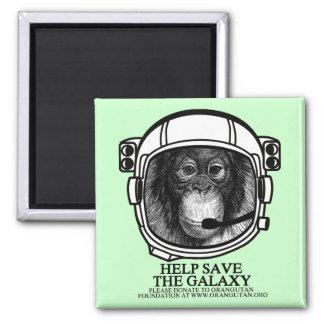 Orangutan Astronaut - Help Save the Galaxy Fridge Magnet