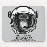 Orangutan Astronaut - Help Save the Galaxy Mousepad