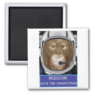 Orangutan Astronaut Mission Magnets