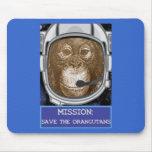 Orangutan Astronaut Mission Mouse Pad