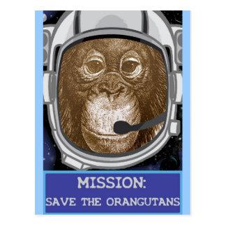 Orangutan Astronaut Mission Postcard
