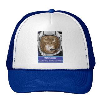 Orangutan Astronaut Mission Trucker Hat