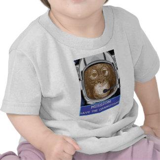 Orangutan Astronaut Mission Tee Shirts