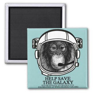 Orangutan Astronaut - Save The Galaxy Fridge Magnet