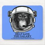 Orangutan Astronaut - Save The Galaxy Mouse Pad