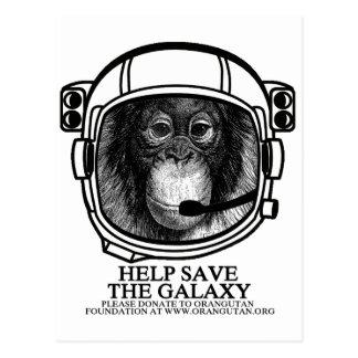 Orangutan Astronaut - Save The Galaxy Postcards