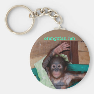 Orangutan at the Sanctuary Basic Round Button Keychain