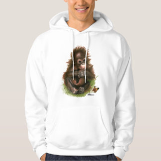 Orangutan Baby and Butterfly Hoodie