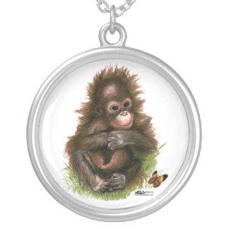 Orangutan Baby and Butterfly Pendants