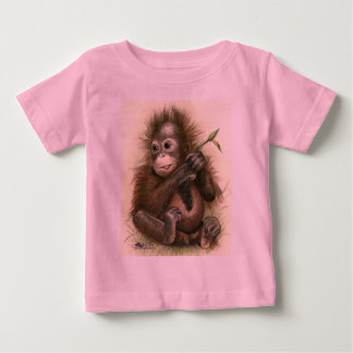 Orangutan Baby With Leaves Baby T-Shirt