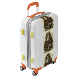 Orangutan Baby With Leaves Luggage
