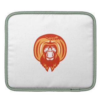 Orangutan Bearded Front Retro Sleeves For iPads