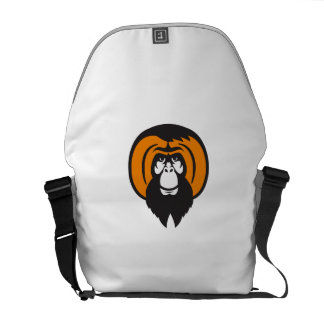 Orangutan Bearded Tussled Hair Retro Courier Bag
