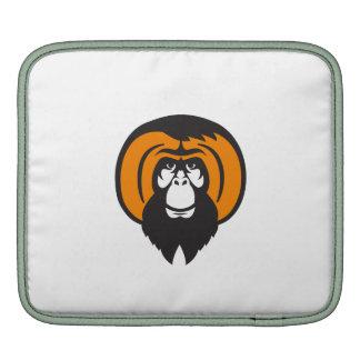 Orangutan Bearded Tussled Hair Retro Sleeves For iPads