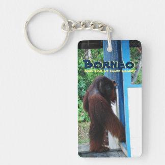 Orangutan Borneo Indonesia Double-Sided Rectangular Acrylic Keychain