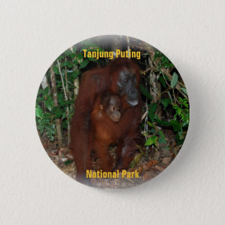 Orangutan Borneo Indonesia Pinback Button