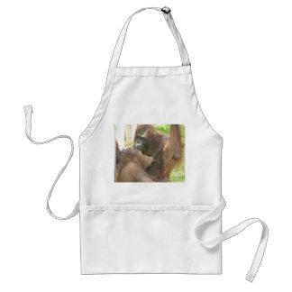 Orangutan Breastfeeding Adult Apron