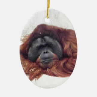 Orangutan Ceramic Ornament