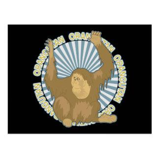 Orangután clásico tarjetas postales