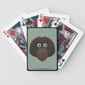 Orangután de papel cartas de juego