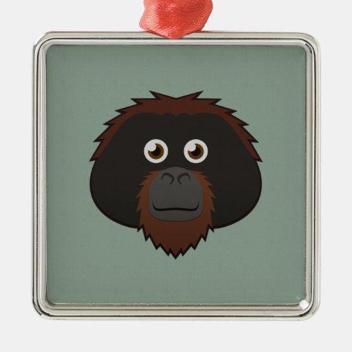 Orangután de papel ornamento de reyes magos
