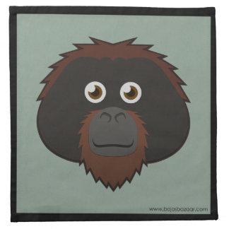 Orangután de papel servilleta de papel
