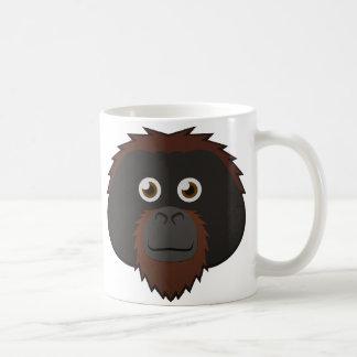 Orangután de papel taza de café