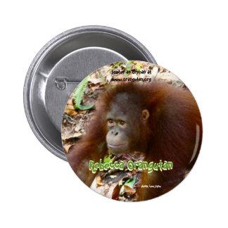Orangután de Rebecca Pin Redondo De 2 Pulgadas