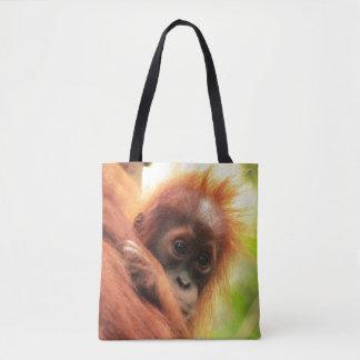 Orangután de Sumatran del bebé Bolsa De Tela