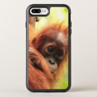 Orangután de Sumatran del bebé Funda OtterBox Symmetry Para iPhone 7 Plus