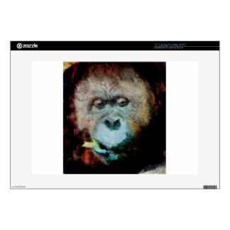 "Orangutan Decal For 15"" Laptop"