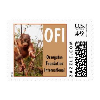 Orangután del albañil de OFI Timbres Postales