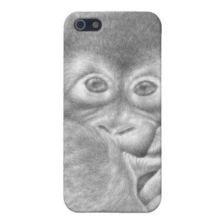 Orangután del bebé iPhone 5 carcasas