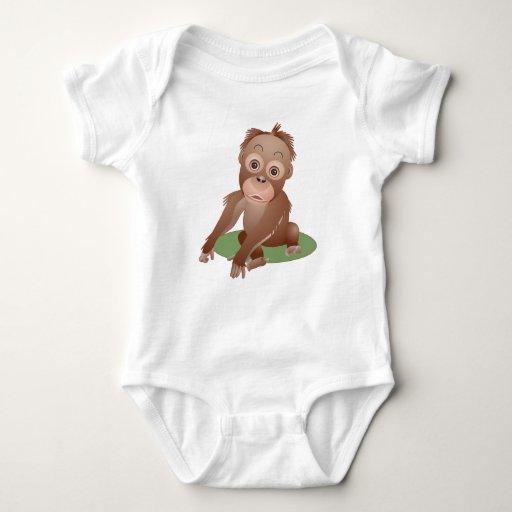 Orangután del bebé playera