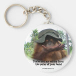 Orangutan : Eating from the palm of your hand Keychain