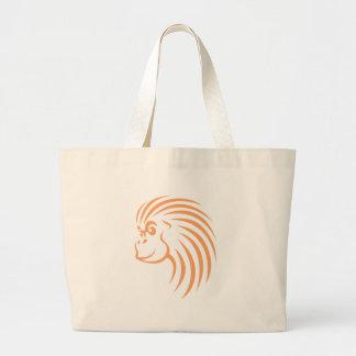 Orangután en estilo del dibujo del chasquido bolsas