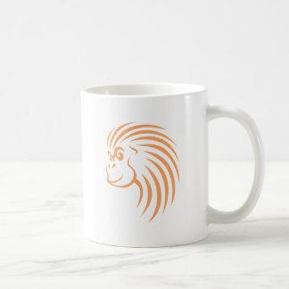 Orangután en estilo del dibujo del chasquido taza clásica