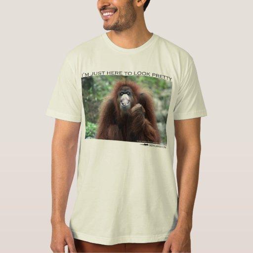 """Orangután: """"Estoy apenas aquí parecer bonito """" Playera"""