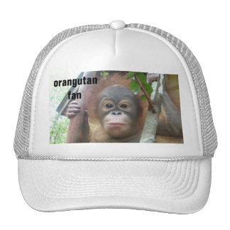 Orangutan Fan Mesh Hats