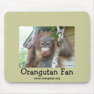 Orangutan Fan Mouse Pad